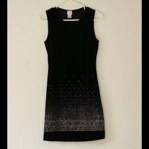 Black Velvet Sparkle Dress, Size Small